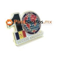 Pin personalizado para un evento de empresa, en esta ocasión la empresa cumplía 10 años.