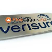 Pin de verisure, personalizado en acero y colores.