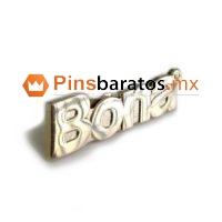 Pines con nombre de empresa de color oro