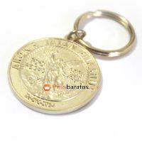 Llaveros relieves 3D dorados estilo moneda