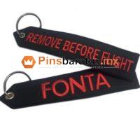Llaveros de tela personalizados con envío a Guadalajara remove before flight